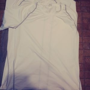 2 White Athletic Sports Short Sleeve Tee Dry Fit